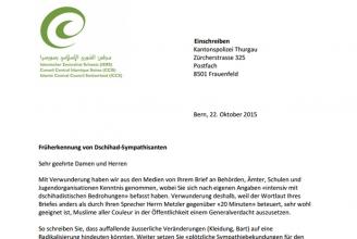 Muslime unter Generalverdacht: Offener Brief an die Kapo Thurgau
