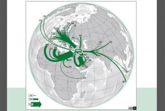 Sogenannte Jihad-Reisen aus aller Welt (NDB)