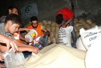 Im Umland von Idlib werden die Körbe zusammengestellt