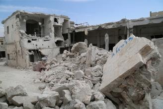 Zerstörung durch russische Agression in Idlib (Syrien).