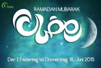 1. Ramadan 1436 fällt auf Do. 18.06.2015