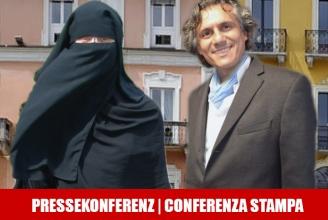 Nora Illi & Rachid Nekkaz informieren in Locarno