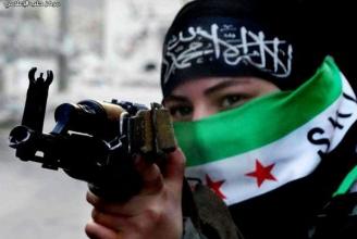 Syrische Rebellin in Aleppo