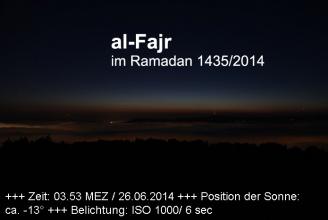 Die echte Morgendämmerung über Bern, 25.6.2014